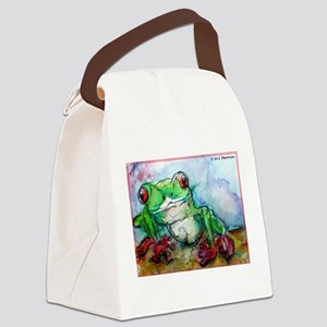 Tree Frog, rainforest, art! Canvas Lunch Bag