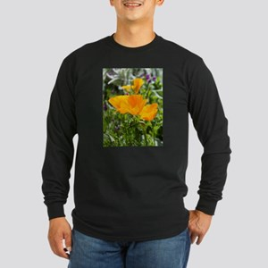 California Poppies Long Sleeve Dark T-Shirt