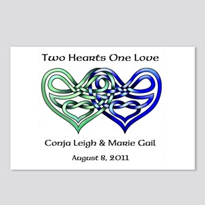 Two Hearts Postcards (Package of 8)