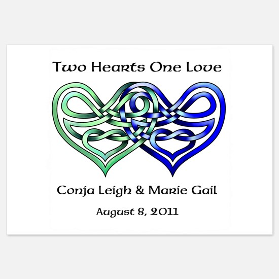 Two Hearts Invitations