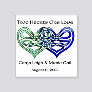 Two Hearts Sticker