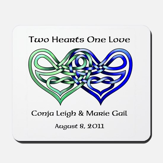 Two Hearts Mousepad
