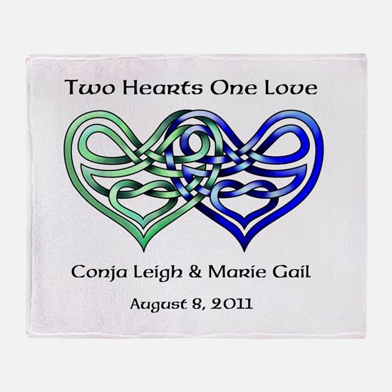 Two Hearts Throw Blanket