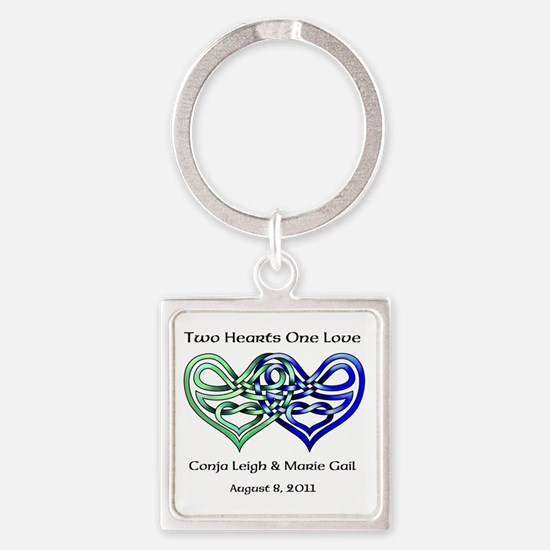 Two Hearts Keychains