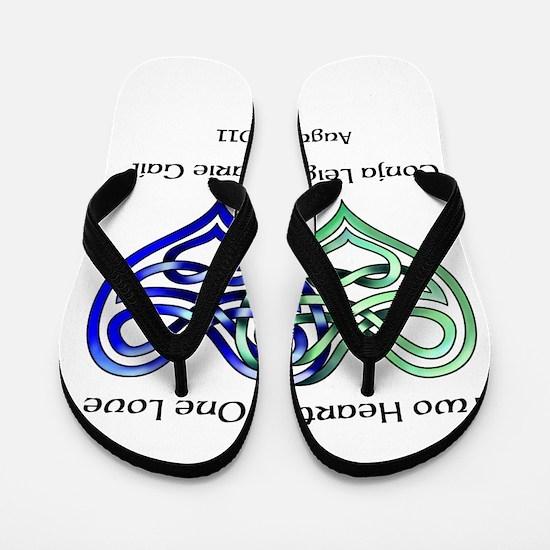 Two Hearts Flip Flops