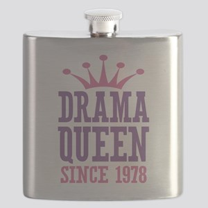 Drama Queen Since 1978 Flask