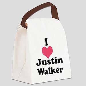I Heart Justin Walker 1 Canvas Lunch Bag