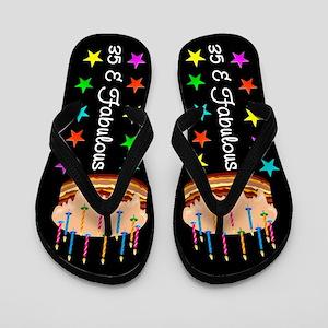FANCY 35TH Flip Flops