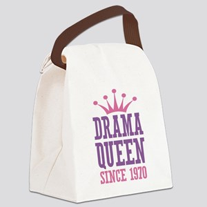 Drama Queen Since 1970 Canvas Lunch Bag