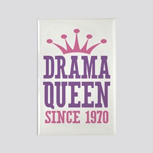 Drama Queen Since 1970 Rectangle Magnet