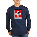 Alpine flowers Long Sleeve Navy T-Shirt