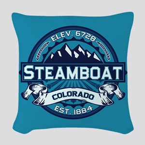 Steamboat Ice Woven Throw Pillow