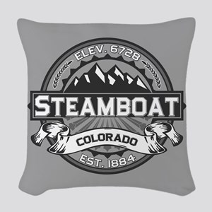 Steamboat Grey Woven Throw Pillow