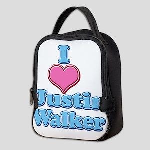 I Heart Justin Walker 2 Neoprene Lunch Bag