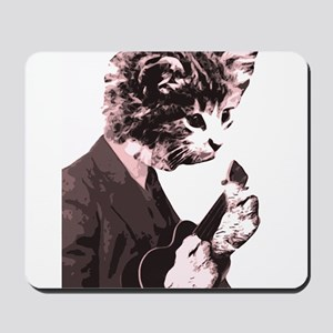 Cat Music Style Mousepad