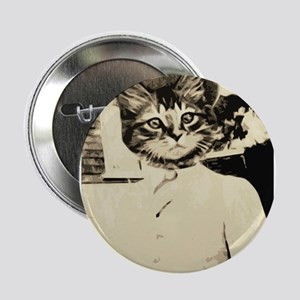 "vintage style catman 2.25"" Button"