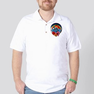 My Little Pony Rainbow Dash Flowers Golf Shirt