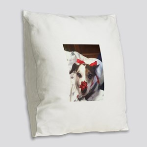 Gromit Dressed As A Gift! Burlap Throw Pillow