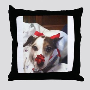 Gromit Dressed As A Gift! Throw Pillow