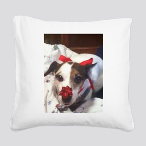 Gromit Dressed As A Gift! Square Canvas Pillow