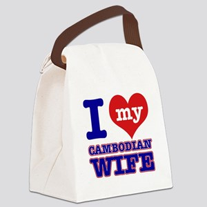 I love my Cambodian Wife Canvas Lunch Bag
