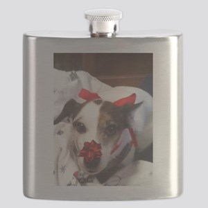 Gromit Dressed As A Gift! Flask