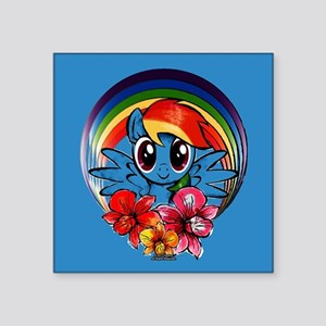 My Little Pony Rainbow Dash Flowers Sticker