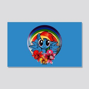My Little Pony Rainbow Dash Flowers Wall Decal