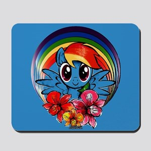 My Little Pony Rainbow Dash Flowers Mousepad