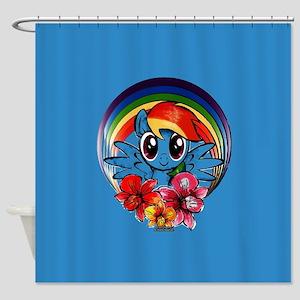 My Little Pony Rainbow Dash Flowers Shower Curtain