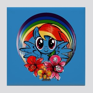 My Little Pony Rainbow Dash Flowers Tile Coaster