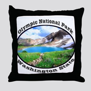 Olympic National Park Throw Pillow