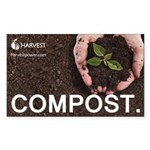 """Compost."" Sticker (Rectangle)"