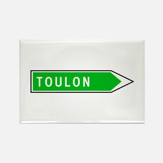 Roadmarker Toulon - France Rectangle Magnet (10 pa