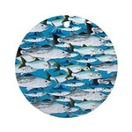 Montauk School of Fish Attack pattern 1 sq Ornamen