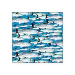Montauk School of Fish Attack pattern 1 sq Sticker