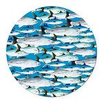 Montauk School of Fish Attack pattern 1 sq Round C