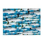 Montauk School of Fish Attack pattern 1 sq 5'x7'Ar