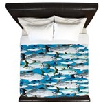 Montauk School of Fish Attack pattern 1 sq King Du