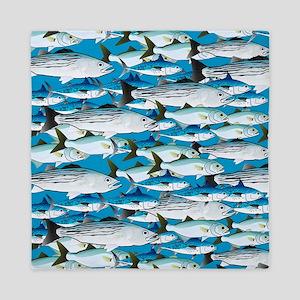 Montauk School of Fish Attack pattern 1 sq Queen D