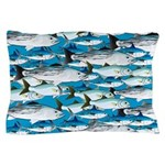 Montauk School of Fish Attack pattern 1 sq Pillow