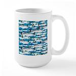 Montauk School of Fish Attack pattern 1 sq Mug