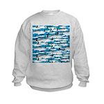 Montauk School of Fish Attack pattern 1 sq Sweatsh