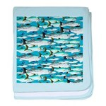 Montauk School of Fish Attack pattern 1 sq baby bl