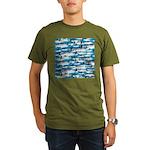 Montauk School of Fish Attack pattern 1 sq T-Shirt