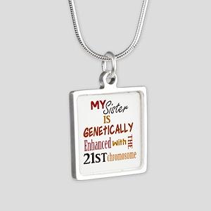MSGE01 Silver Square Necklace