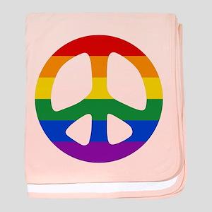 Rainbow Flag Peace baby blanket