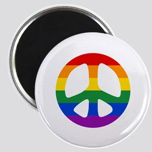 Rainbow Flag Peace Magnet