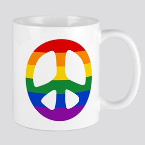 Rainbow Flag Peace Mug