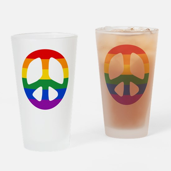 Rainbow Flag Peace Drinking Glass